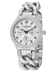 Stuhrling Renoir Shine Swiss Quartz Stainless Steel Date Womens Watch 813S 01