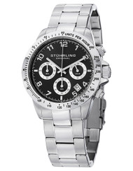 Stuhrling Concorso Chronograph Tachymeter Date Stainless Mens Watch 665B 01