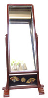 9M127 Standing Mirror Kyodai Negoro Lacquer / SOLD