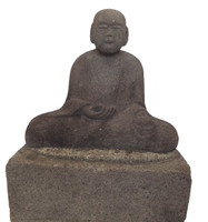 10M73 Stone Buddhist Monk with Stand