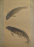 10M251 Kakejiku Scroll Koi Carps