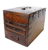 3M194 Merchant Writing Box Suzuri Bako with Built-in Abacus