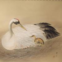 160-4 Kakejiku Scroll Crane