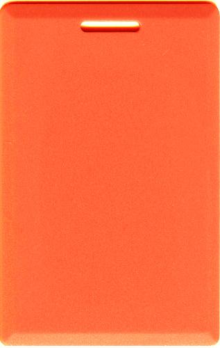 Orange Clamshell Card