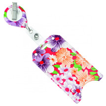 Floral Badge Holder,#806-T2V-FLORAL