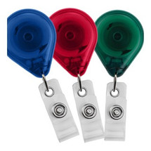 Premium Badge Reel with Strap and Slide Clip (Translucent)