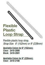 """Flexible Plastic Loop - CLEAR 9""""  (100)"""