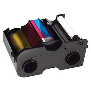 Fargo YMCKO 45410 Ribbon Cartridge, 045410