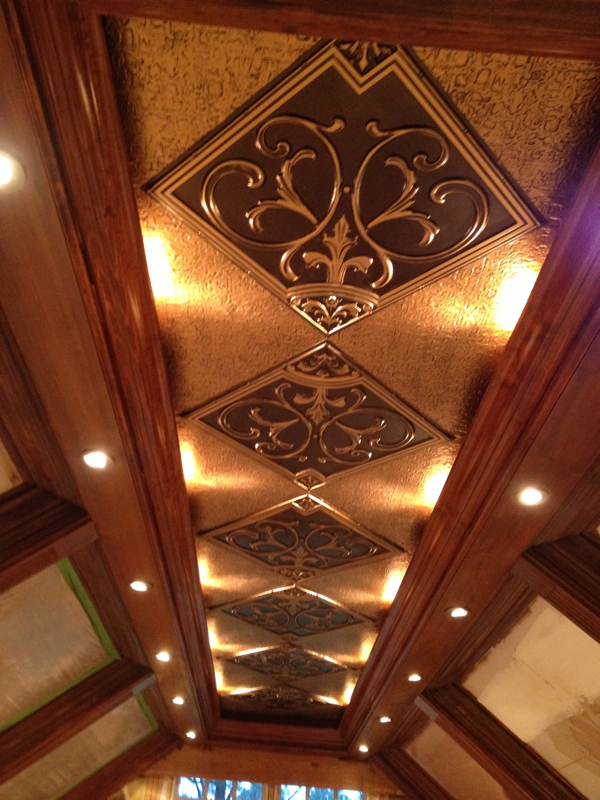 Faux tin ceiling projects decorative ceiling tiles inc for Decorative ceilings