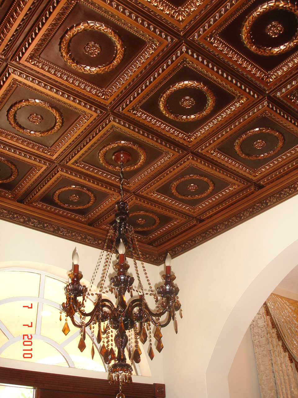 faux tin ceiling projects decorative ceiling tiles inc. Black Bedroom Furniture Sets. Home Design Ideas