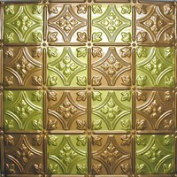 0604 Aluminum Ceiling Tile in Antique Brass - Copper finish is available with many other finishes at www.decorativeceilingtiles.net