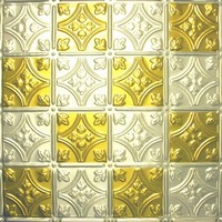 0604 Aluminum Ceiling Tile in Antique Brass / Clear finish is available with many other finishes at www.decorativeceilingtiles.net