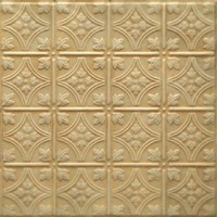 0604 Aluminum Ceiling Tile in Flaxen finish and many other finishes is available in Nail up and Drop In versions at www.decorativeceilingtiles.net
