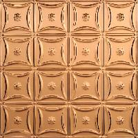 0607 Aluminum Ceiling Tile in Polished Copper and many other finishes available at www.decorativeceilingtiles.net