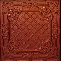 2412 Aluminum Ceiling Tile in Burnt Mahagony finish is available at www.decorativeceilingtiles.net