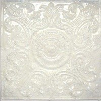 2414 Aluminum Ceiling Tile in Crackled White Finish is available at www.decorativeceilingtiles.net