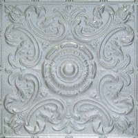 2414 Aluminum Ceiling Tile in Molten Silver finish is available at www.decorativeceilingt