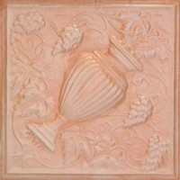 2441 Aluminum Ceiling Tile with wine grapes in Peaches and Cream finish is available in drop in or nail up at www.decorativeceilingtiles.net