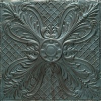 2448 Aluminum Ceiling Tile in Verdigris finish is available in drop in and nail up application  and about 75 finishes.