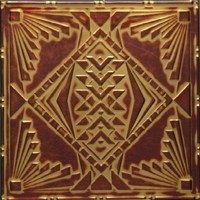 2488 Alumium Ceiling Tile in Mahoganied Brass finish and many other is available at www.decorativeceilingtiles.net
