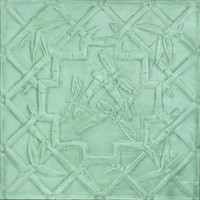 2489 Aluminum Ceiling Tile in Peridot / Green finish is available in nail up or drop in finish at www.decorativeceilingtiles.net