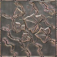 2491 Aluminum Ceiling Tile with creeping ivy design and in Bell of Hope finish and many others is available at www.decorativeceilingtiles.net