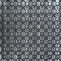 0302 Aluminum Ceiling Tile in Charred Pewter can be nailed to a wooden substrate or dropped into a grid system.