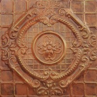 2409 Aluminum Ceiling Tile, English Garden in Rusted Adobe and many other finishes is availabel at www.decorativeceilingtiles.net