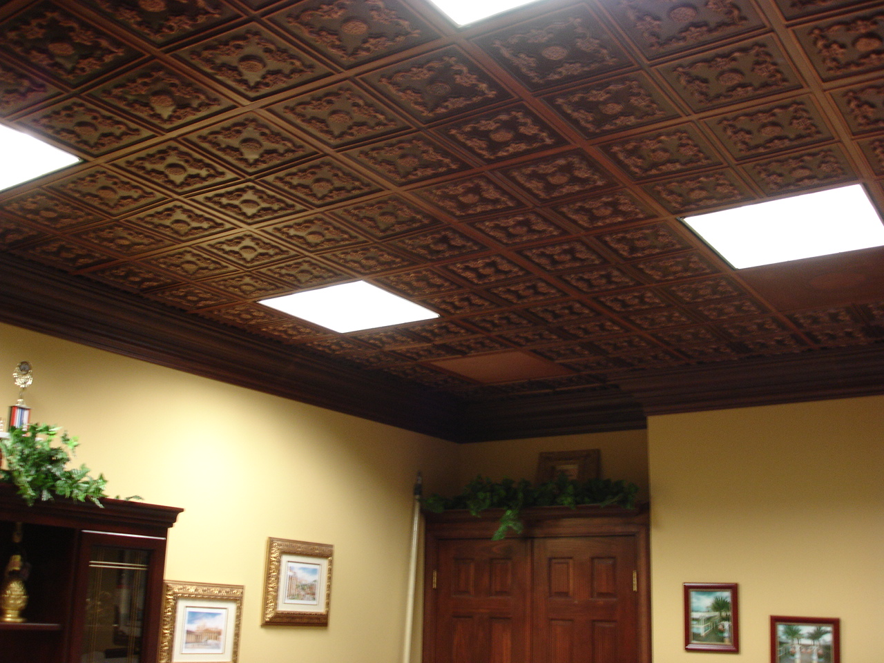 decorated-drop-ceiling-tiles-with-faux-tin-antique-copper-ones.jpg