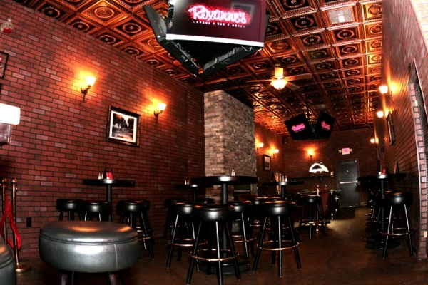 Roxannes Lounge in Long Beach California with our beautiful 210 Antique Copper ceiling tiles.