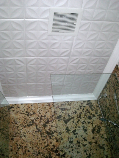 Decorative Bathroom Ceiling Tiles : Styrofoam ceiling tiles finished projects images photo