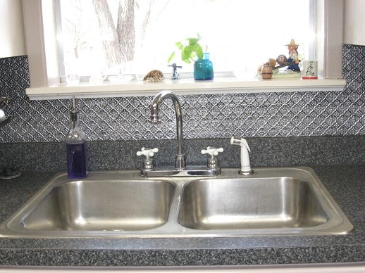 Larger Hammered Pattern Faux Tin Backsplash Roll Wc 40