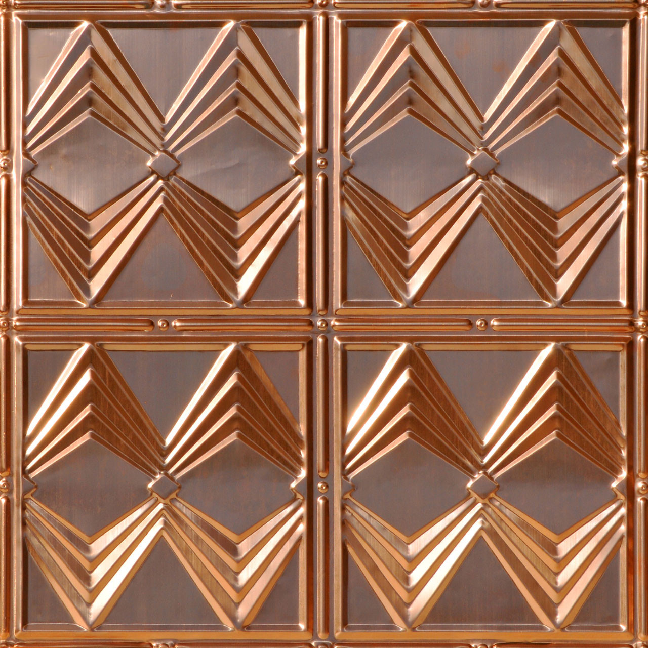 Real copper ceiling tiles