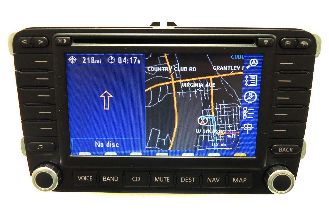 Volkswagen Passat Navigation System : Eos jetta navigation gps system radio dvd lcd display