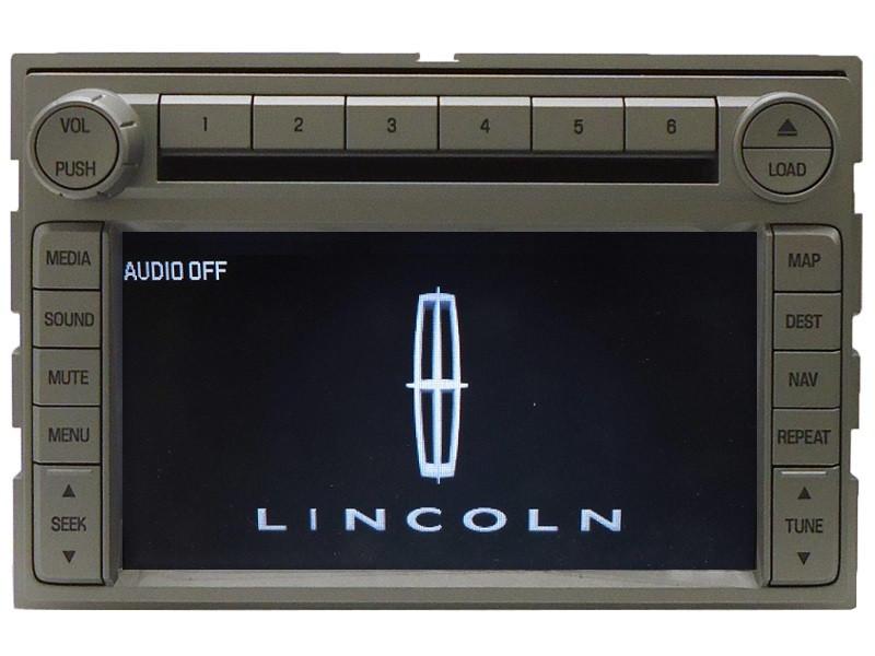 06 07 08 navigator mkz oem navigation gps stereo radio 6 disc changer cd player ebay. Black Bedroom Furniture Sets. Home Design Ideas
