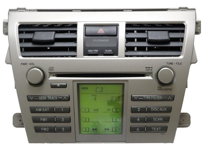 09 2009 toyota yaris radio satellite aux mp3 cd player. Black Bedroom Furniture Sets. Home Design Ideas