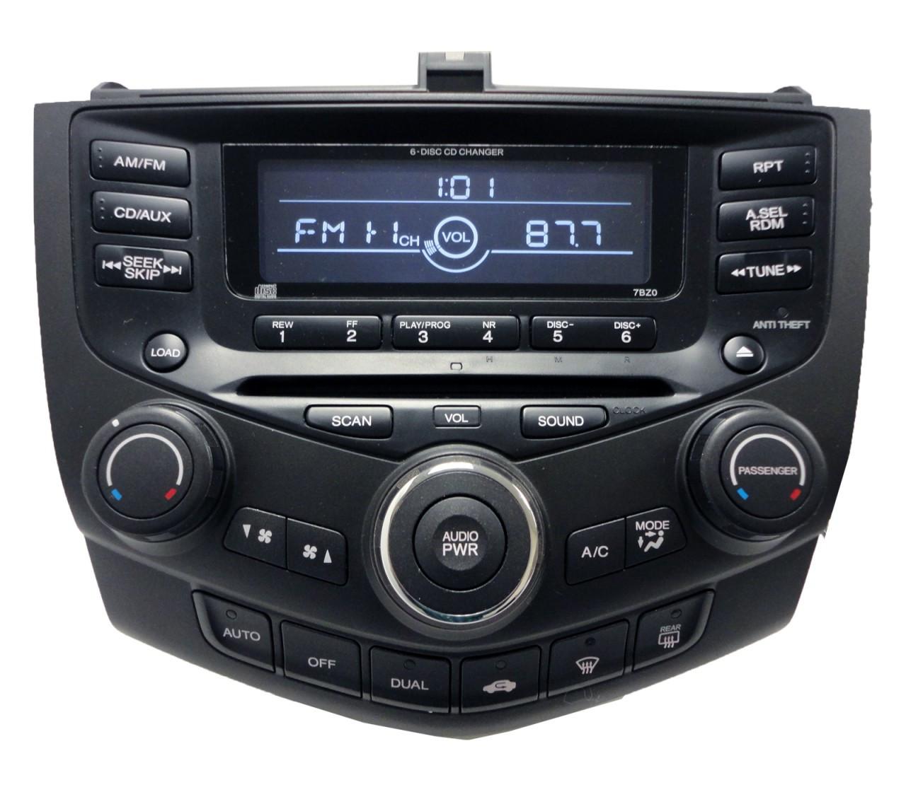 7BZ0 Honda Accord EX L Radio AUX MP3 Player 6 CD Changer