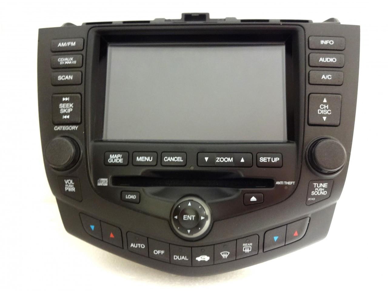 2004 2005 2006 2007 Honda Accord Navigation Gps System