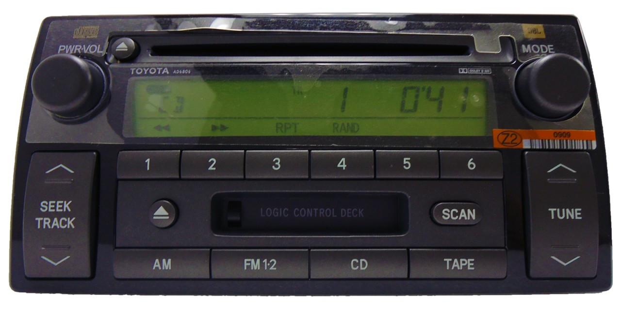 ad6806 2004 toyota camry jbl radio tape cd player. Black Bedroom Furniture Sets. Home Design Ideas