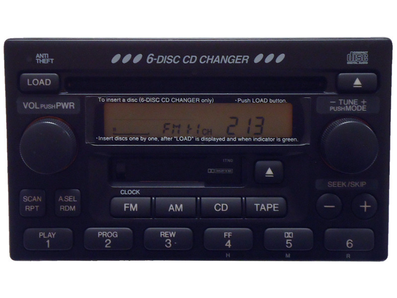 1tn1 1998 99 2002 honda accord prelude 6 cd changer radio. Black Bedroom Furniture Sets. Home Design Ideas