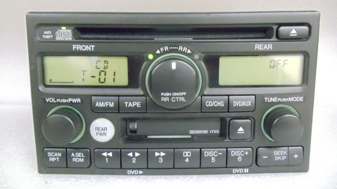 1tx0 1999 01 02 2004 Honda Odyssey Radio Stereo Cd Player