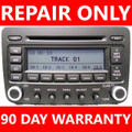 Repair YOUR Radio! Volkswagen VW Jetta Passat Golf Rabbit EOS 6 Six Changer CD Player Repair Service FIX 2005 2006 2007 2008 2009 05 06 07 08 09