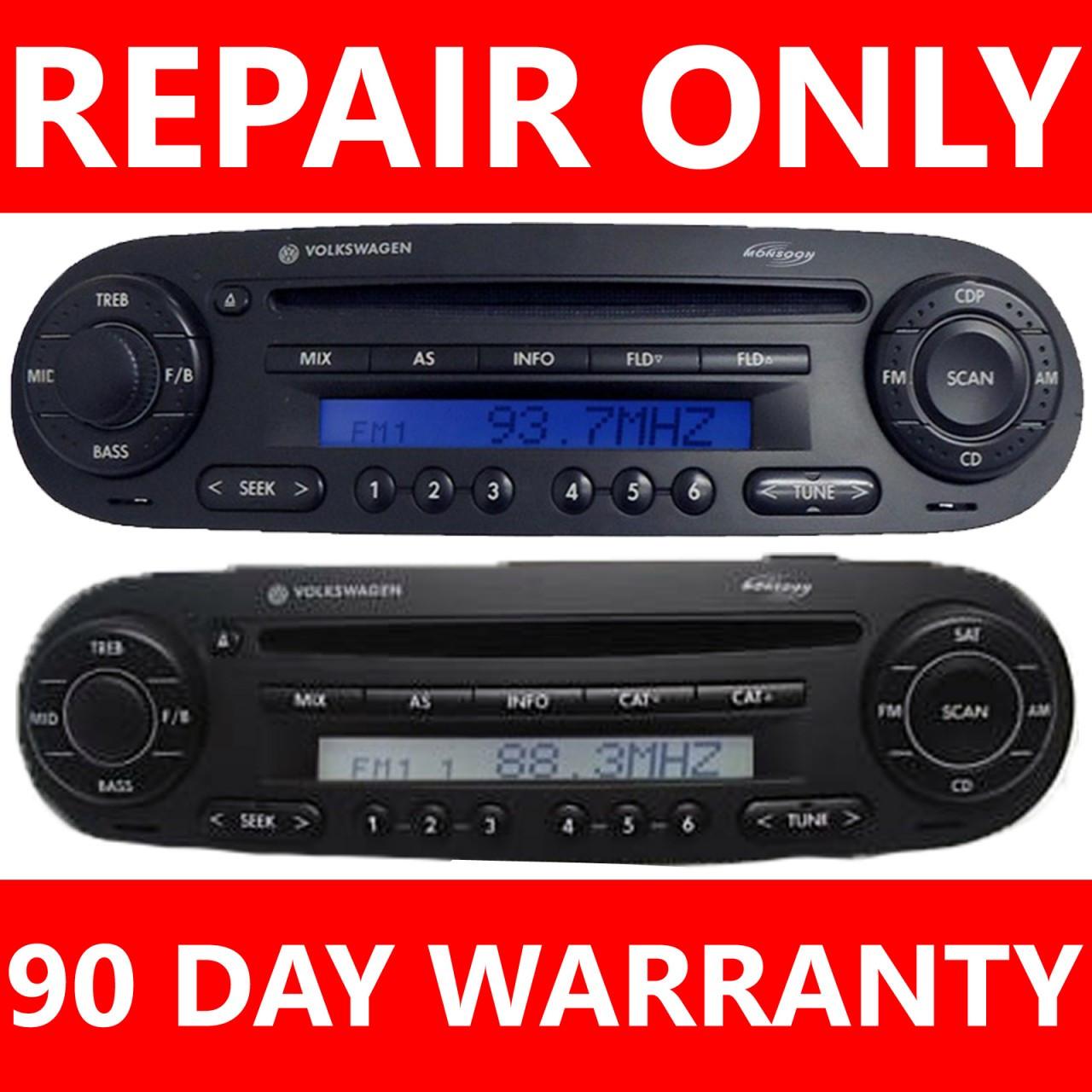98 10 Volkswagen Beetle Single Disc Changer Player Cd Player