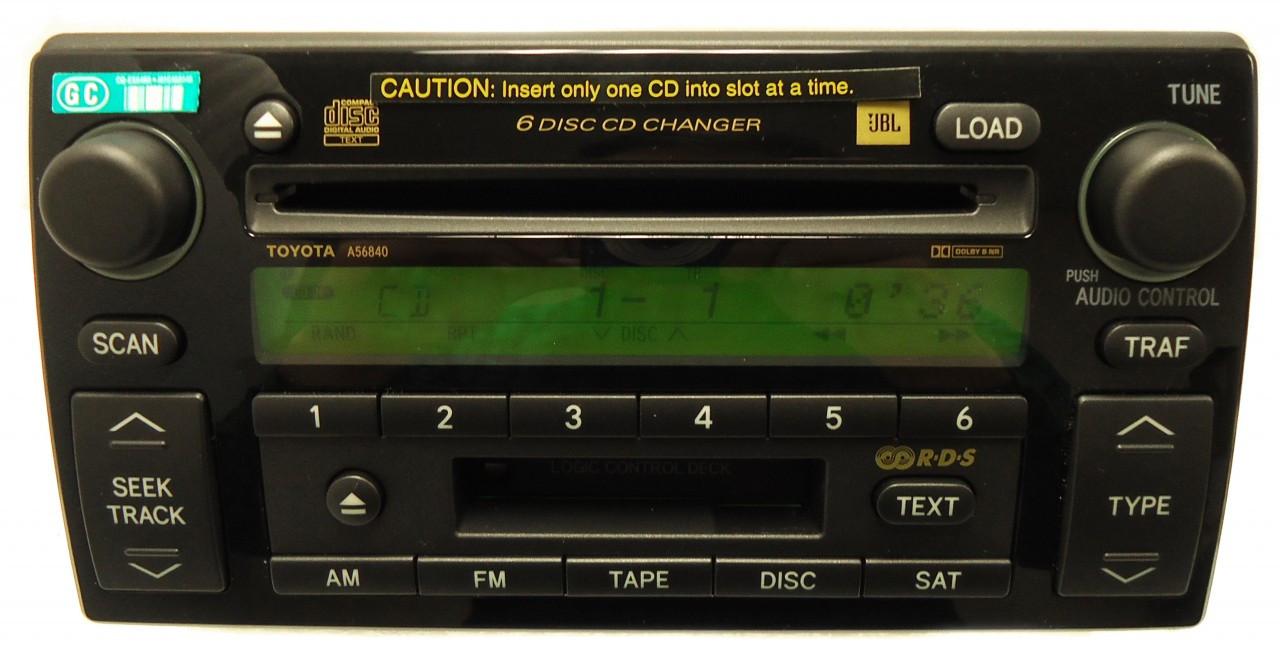 a56840 05 06 toyota camry 6 disc changer cassette player. Black Bedroom Furniture Sets. Home Design Ideas