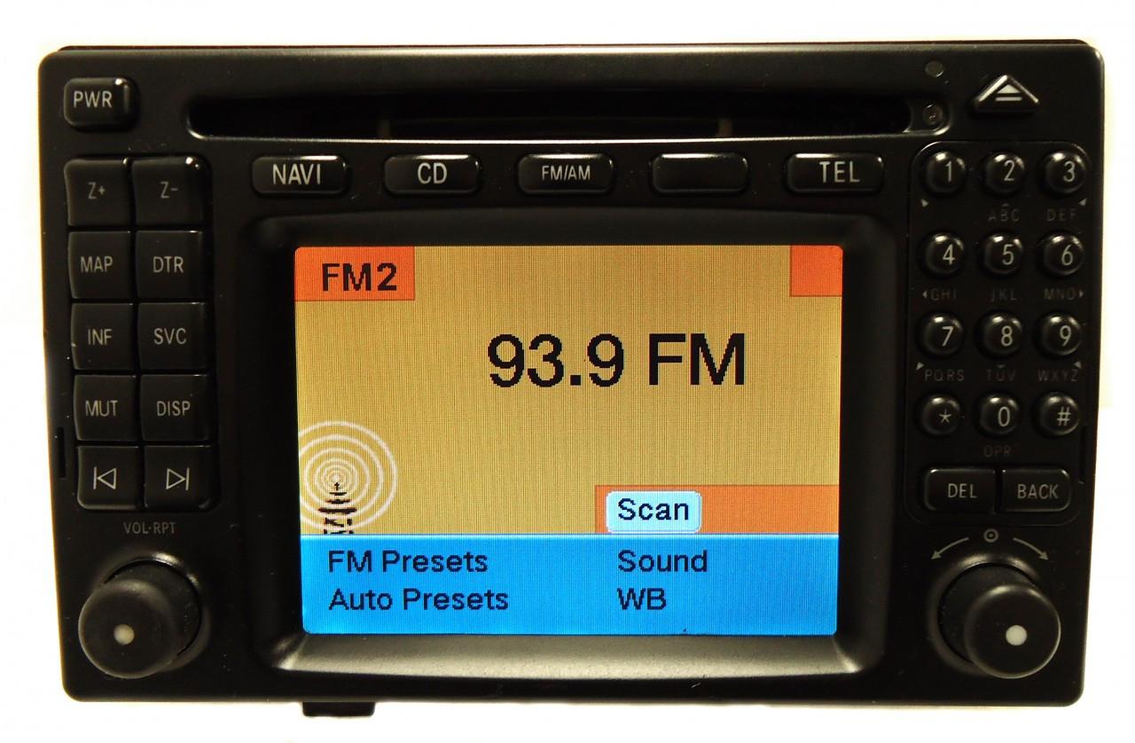 mercedes benz command navigation gps head unit radio cd. Black Bedroom Furniture Sets. Home Design Ideas