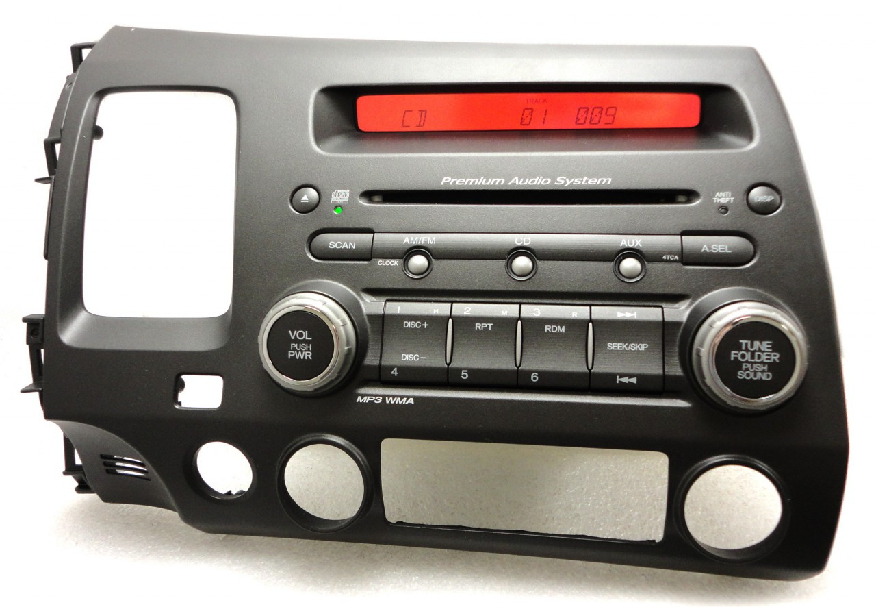 4tca 06 honda civic audio system radio stereo mp3 cd player. Black Bedroom Furniture Sets. Home Design Ideas
