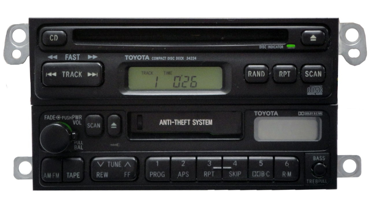 A16409 Toyota 4runner Avalon Radio Cassette Tape Cd Player