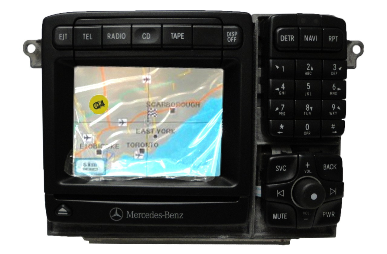 new mercedes benz bosch command navigation gps radio. Black Bedroom Furniture Sets. Home Design Ideas