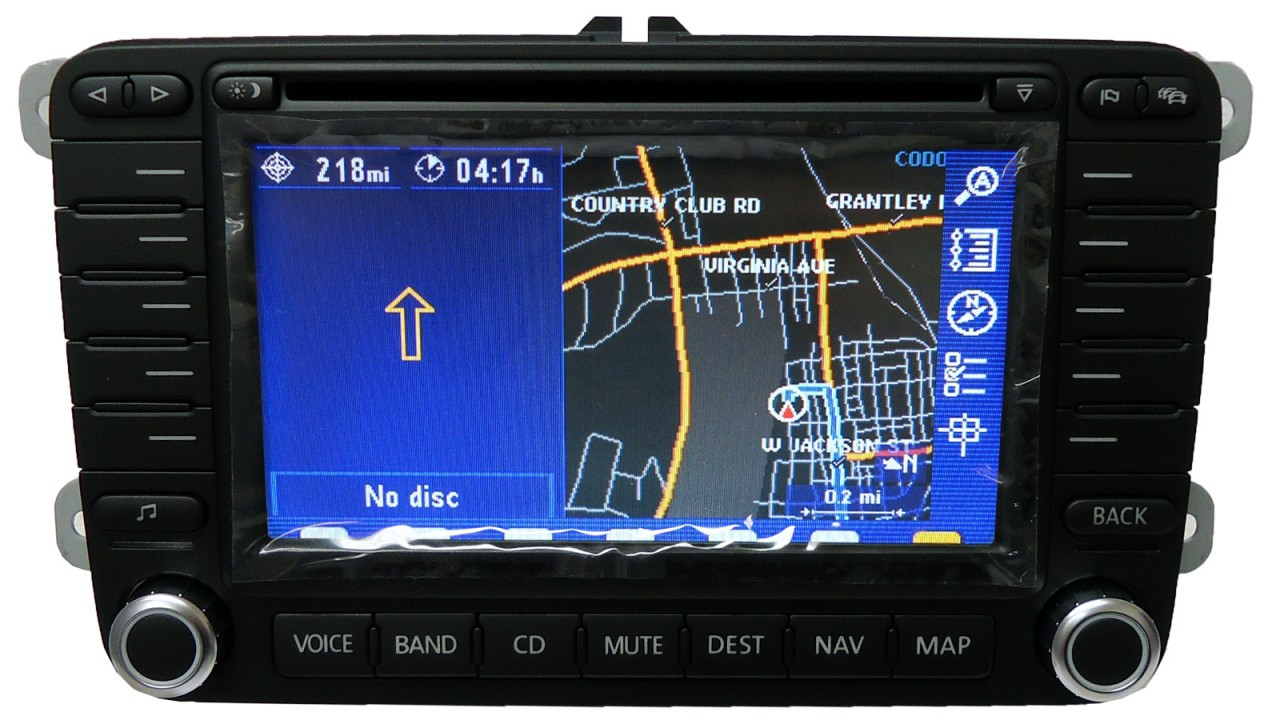 new vw volkswagen navigation gps system lcd touch display. Black Bedroom Furniture Sets. Home Design Ideas
