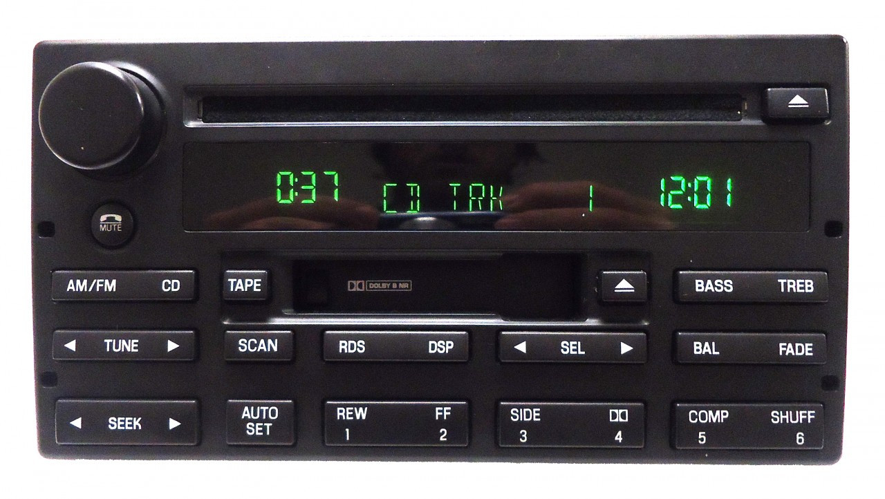 2003 03 2004 04 Mercury Marauder Rds Radio Cd Player 3w3t